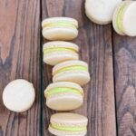 french macaron with green filling