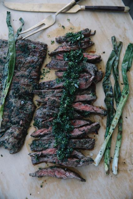 Skirt Steak with Asparagus